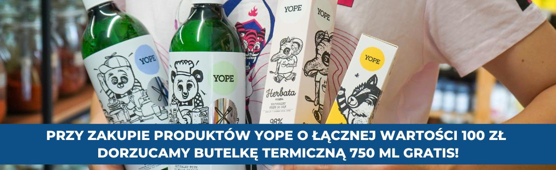 Zakupy za 100 zł produktów Yope i butelka gratis!